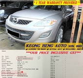 2011 MAZDA CX-9 3.7 SUVs (ACTUAL YR MADE 2011)(GST INCLU)(1 OWNER)(BOSE SOUND)(VERY TIPTOP LOW MILE)