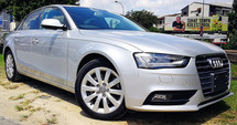 2013 AUDI A4 2.0 TFSI QUATTRO FACELIFT JAPAN SPEC SELLING PRICE ( RM 127,000.00 NEGO ) ( CAR BODY - SILVER COLOR 7551 )