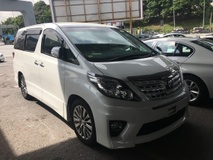 2013 TOYOTA ALPHARD 2.4 Type Gold 7seather Camera Keyless 7G Nice