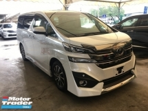 2016 TOYOTA VELLFIRE 3.5 VL 7Seats SunRoof JBL PowerBoot Camera 7Seed
