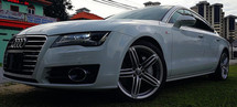 2013 AUDI A7 3.0 V6 TFSI QUATTRO SPORTBACK FACELIFT JAPAN SPEC UNREG SELLING PRICE  ( RM 188,000.00 NEGO ) CAR BODY - WHITE COLOR ( 6532 )