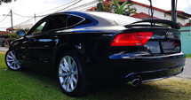 2014 AUDI A7 3.0 V6 TFSI QUATTRO SPORT BACK FACELIFT JAPAN SPEC UNREG SELLING PRICE ( RM 238,000.00 NEGO ) CAR BODY - BLACK COLOR ( 3908 )