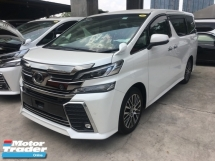 2015 TOYOTA VELLFIRE Unreg Toyota Vellfire 2.5 ZG 7seather PD PB 360view 4Cam 7G