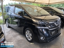 2016 TOYOTA VELLFIRE 2.5 Dual VVT-i 7 SCVT-i 4 Surround Camera Automatic Power Boot 2 Power Doors Adaptive Intelligent LED Smart Entry 9 Air Bag Unreg