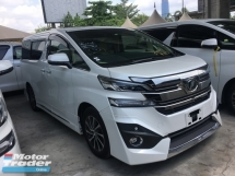 2016 TOYOTA VELLFIRE Unreg Toyota Vellfire 3.5 VL Pilot 7seather Sunroof Home theater JBL 360View Cam