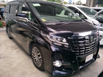 2015 TOYOTA ALPHARD 2.5 SC SUNROOF PRE CRASH JBL HOME THEATER 360 VIEW CAMERA