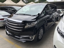2015 TOYOTA ALPHARD 2.5 SA Edition 4 Surround Camera 7 Seat Automatic Power Boot 2 Power Door Intelligent Bi LED Smart Entry Push Start Multi Function Steering Auto Cruise 3 Zone Climate Control Bluetooth Connectivity 9 Air Bag Unreg