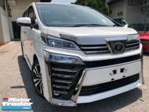 2018 TOYOTA VELLFIRE ZG SUNROOF LEATHER DIM