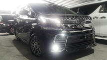 2017 TOYOTA VELLFIRE  2.5 MPV 0% GST  LEATHER SEAT COVER SUNROOF PRE-CRUSH UNREG PLS CALL 0193839680