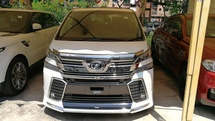 2015 TOYOTA VELLFIRE 2.5 ZG JBL Theater   GST Waived