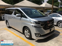 2015 TOYOTA VELLFIRE Unreg Toyota Vellfire 2.5 X 8seather 2PD PB 7G Keyless Push Start