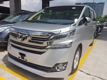 2015 TOYOTA VELLFIRE 2.5 japan spec local unreg NO GST