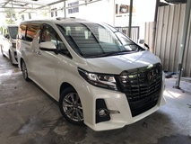 2017 TOYOTA ALPHARD 2.5 SA S A Black Edition Unreg Sunroof Power Boot Pre Crash No GST