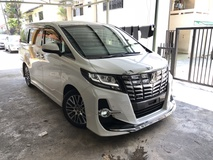 2016 TOYOTA ALPHARD 2.5 SC Unreg Modellista JBL Pre Crash 4 Camera No GST