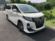 2015 TOYOTA ALPHARD 2.5 SC Unreg Modellista Sunroof JBL Pre Crash Auto Parking NO GST