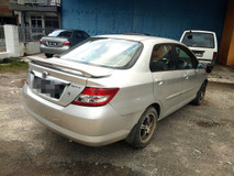 2003 HONDA CITY 1.5 IDSI FULL Spec 7 SPEED(AUTO)2003 Only LADY Owner,112K Mileage,TIPTOP, ACCIDENT-Free, DIRECT-Owner, with PADDLE Shift & 2 AIRBEG