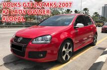 2007 VOLKSWAGEN GOLF GTI 2.0 ( MK5 ) ( One Lady Owner ) ( Low Mileage )
