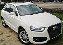 2013 AUDI Q3 2013 AUDI Q3 2.0  TFSI QUATTRO JAPAN SPEC UNREG SELLING PRICE  ( RM 139,000.00 NEGO ) CAR BODY WHITE COLOR ( 9750 )  JAPAN SPECIFICATION NEW UNREGISTERED  MANUFACTURER 2013