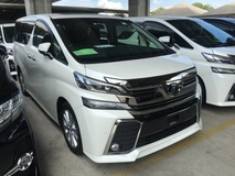 2015 TOYOTA VELLFIRE 2.5 Z SERIES Z ZA ZG Edition 0% GST OFFER SALES