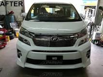 Toyota Vellfire 2012 Facelift Modellista ZR bumper bodykit Exterior & Body Parts > Car body kits