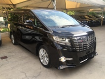 2015 TOYOTA ALPHARD 2.5 S SA Edition 4 Surround Camera Automatic Power Boot 2 Power Door 7 Seat Intelligent LED Smart Entry 9 Air Bag Bluetooth Unreg