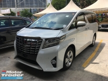 2015 TOYOTA ALPHARD Unreg Toyota Alphard X Spec 8seather 2PD 360View Cam 7G Keyless