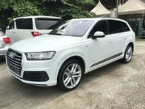 2015 AUDI Q7 3.0 Turbocharged 268hp S-Line Quattro Panoramic Roof Virtual Cockpit MMi Touch 7 Seat 3D BOSE Surround Matrix LED Dynamic Select Power Boot Memory Seat Bluetooth Connectivity Unreg