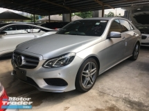 2014 MERCEDES-BENZ E-CLASS Unreg Mercedes Benz E250 2.0 AMG sport Turbo Camera Keyless 7G Nice