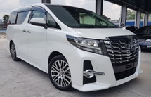 2017 TOYOTA ALPHARD 2017 Toyota Alphard 2.5 SC Sun Roof Pre Crash Pilot Seat Power Boot Unregister for sale.
