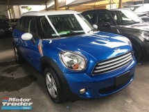 2013 MINI 5 DOOR Unreg Mini Countryman Cooper 1.6 (A) Nice Cute Car 6 Speed