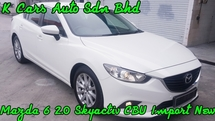 2014 MAZDA 6 2.0 (A) CBU IMPORT BARU JAPAN ALL NEW SKYACTIVE TECHNOLOGIC TIP TOP CONDITION