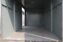 2011 BISON BJ 1039 Box Van Bonded 12ft Steel Chaquer Plate Floorboard Sliding Door 4800kg Green Engine
