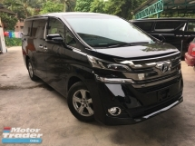 2016 TOYOTA VELLFIRE Unreg Toyota Vellfire 2.5 X Spec 8seather 2PD 360View Cam 7G Keyless