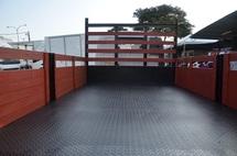 2011 BISON BJ 1049  Wooden Kargo Body, 14ft, 3.0mm Steel Chaquer Plate Floorboard , 5000kg, Green Diesel Engine