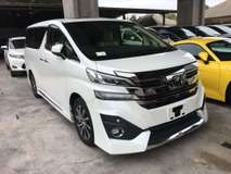 2016 TOYOTA VELLFIRE 3.5 VL FULL SPEC JBL HOME THEATRE SUNROOF NAPPA LEATHER NO GST NO SST 2016 UNREG