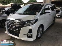 2016 TOYOTA ALPHARD Unreg Toyota Alphard SA 2.5 Sunroof 360View Cam 7G Keyless Powerboot Push Start