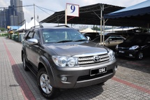 2011 TOYOTA FORTUNER 2.7V FULL Spec King Car NO GST CHARGE, Crazy Offer AND FREE TRAVEL PACKAGE