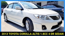 2013 TOYOTA COROLLA ALTIS 1.8 G NEW FACELIFT DVVT-i ENGINE