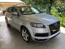 2014 AUDI Q7 3.0 S-Line Quattro 245hp MMi 2 Adaptive Hi Low Suspension 7 Seat Automatic Power Boot Power Seat Multi Function Paddle Shift Steering Daytime Running LED Bluetooth Connectivity Unreg