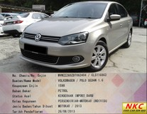 2013 VOLKSWAGEN POLO Sedan 1.6 (A) FSI GOOD CONDITION