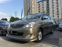 2012 TOYOTA INNOVA 2.0 G (A) FULL SERVICE UNDER TOYOTA ** EXCELLENT CONDITION ** LEATHER SEAT ** DVD PLAYER **