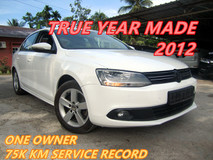 2012 VOLKSWAGEN JETTA JETTA 1.4 TSI (A) 75K KM SERVICE RECORD VW , ONE OWNER , LIKE NEW