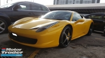 2010 FERRARI 458 ITALIA 458 ITALIA 4.5cc COUPE (A) REG 2012, CBU BY NAZA ITALIA, VVIP OWNER, FULL SERVICE RECORD, VERY LOW MILEAGE DONE 17K KM, REVERSE CAMERA, LIFTING, CERAMIC DISC BRAKE, 20