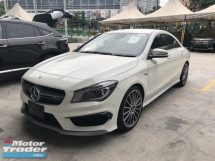 2014 MERCEDES-BENZ CLA Unreg Mercedes Benz CLA45 2.0 Turbo Camera Keyless Haman Kardon Syetem Crash Syetem 7G