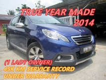 2014 PEUGEOT 2008 1.6 (A) ONE LADY OWNER , 40K KM SERVICE RECORD