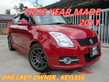 2011 SUZUKI SWIFT 1.5 GLX (A) ONE LADY OWNER , KEYLESS PUSH START