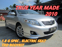 2010 TOYOTA ALTIS 1.8 G (A) FULL TRD BODYKIT , ELECTRIC SEAT
