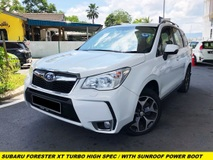 2015 SUBARU FORESTER 2.0XT FULL SPEC HIGH SPEC TURBO SUNROOF LEATHER SEAT ELECTRIC SEAT X-MODE PADDLE SHIFTER TURBO METER