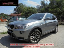 2011 BMW X3 2.0 xDrive20d Diesel Luxury SUPERB Facelift LikeNEW