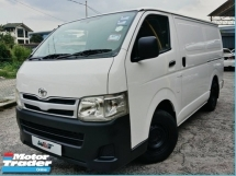 2012 TOYOTA HIACE 2.5 (M) TURBO PANEL VAN GOOD CONDITION CLEAN INTERIOR PROMOTION PRICE.